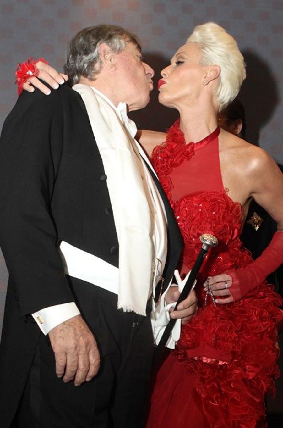 Richard Lugner et Brigitte Nielsen, en février 2012