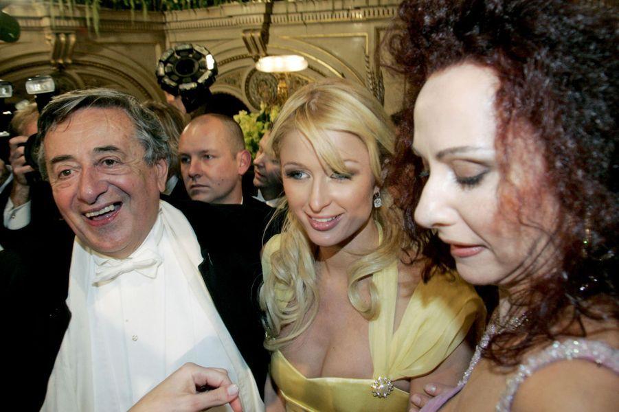 Richard Lugner et Paris Hilton, en février 2007