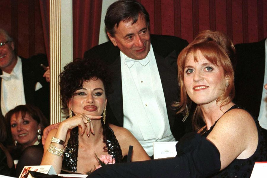 Richard Lugner et Sarah Ferguson, en février 1997