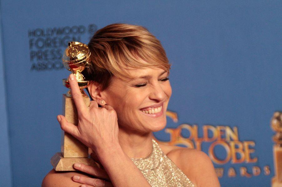"""Golden Globe de la meilleure actrice pour son rôle dans""""House of Cards"""" en 2014"""