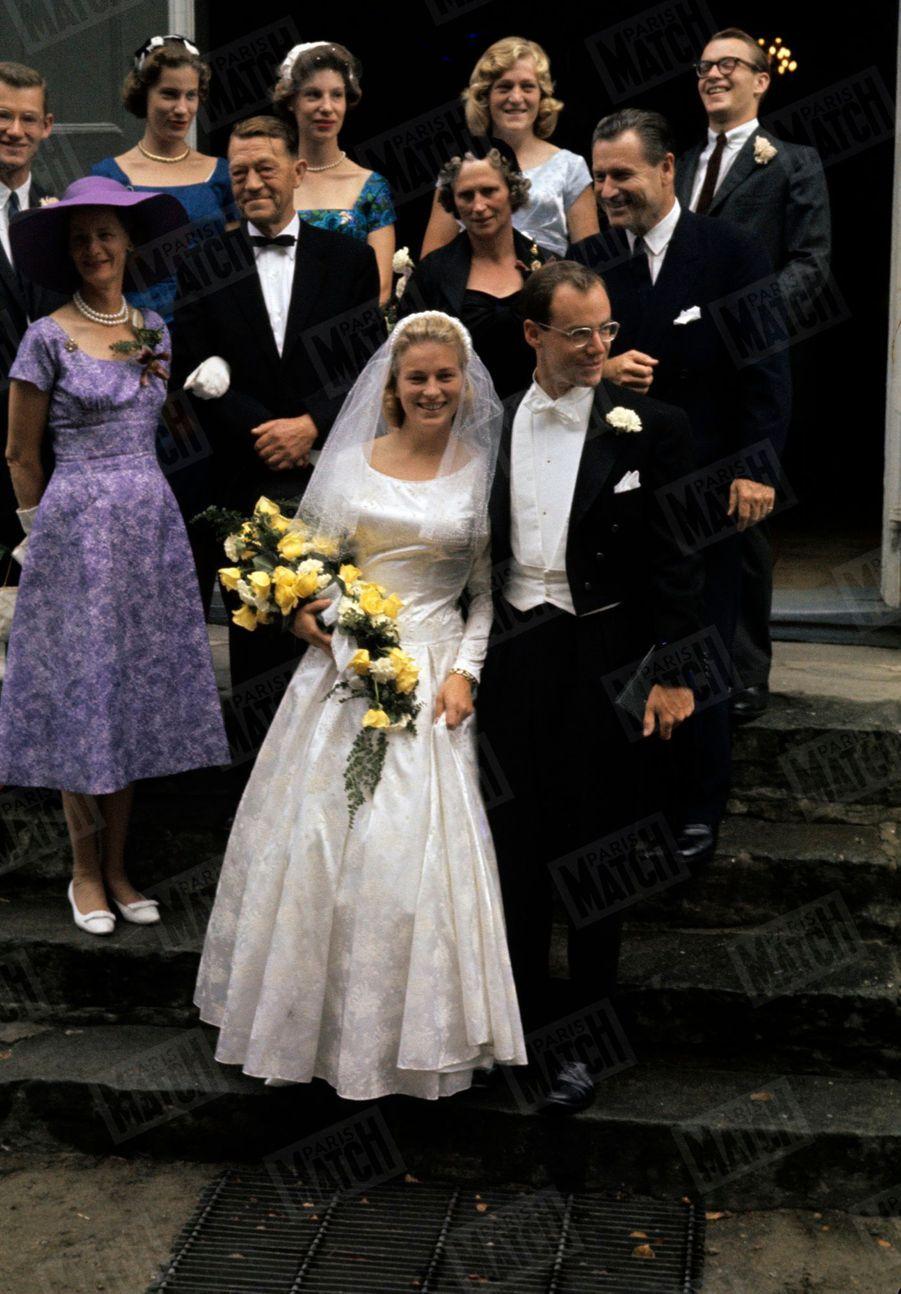 Au mariage d'Anne-Marie Rasmussen et Steven Rockefeller, le 22 août 1959.