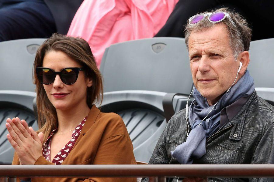 Charles Berling et Charlotte de Chavagnac à Roland-Garros