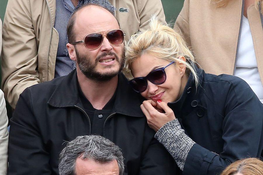 Helena Noguerra et son compagnon Frédéric du Weltz à Roland-Garros