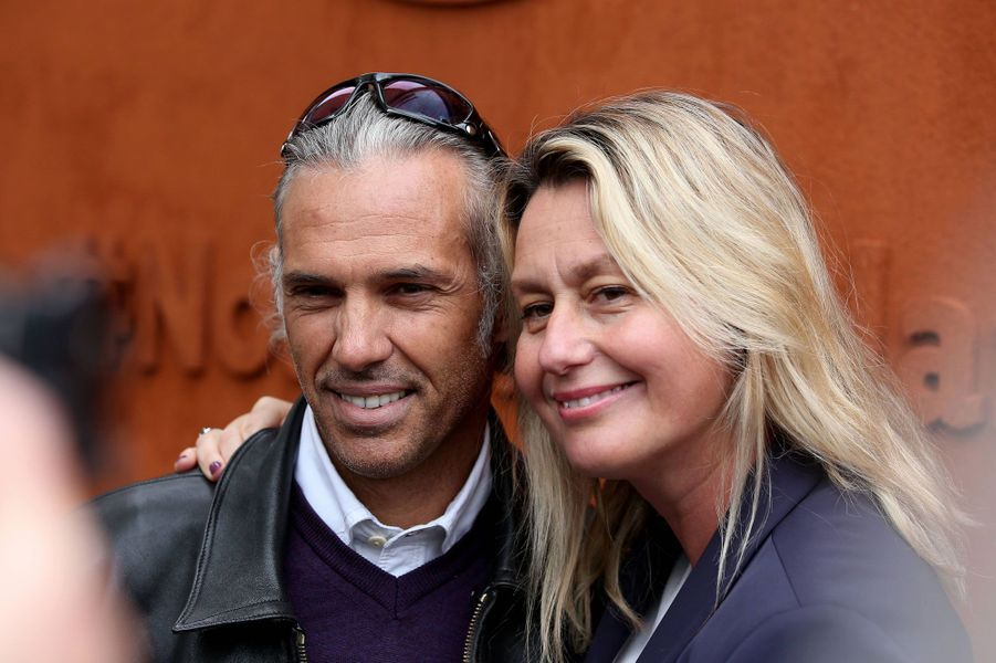 Paul et Luana Belmondo au village de Roland-Garros