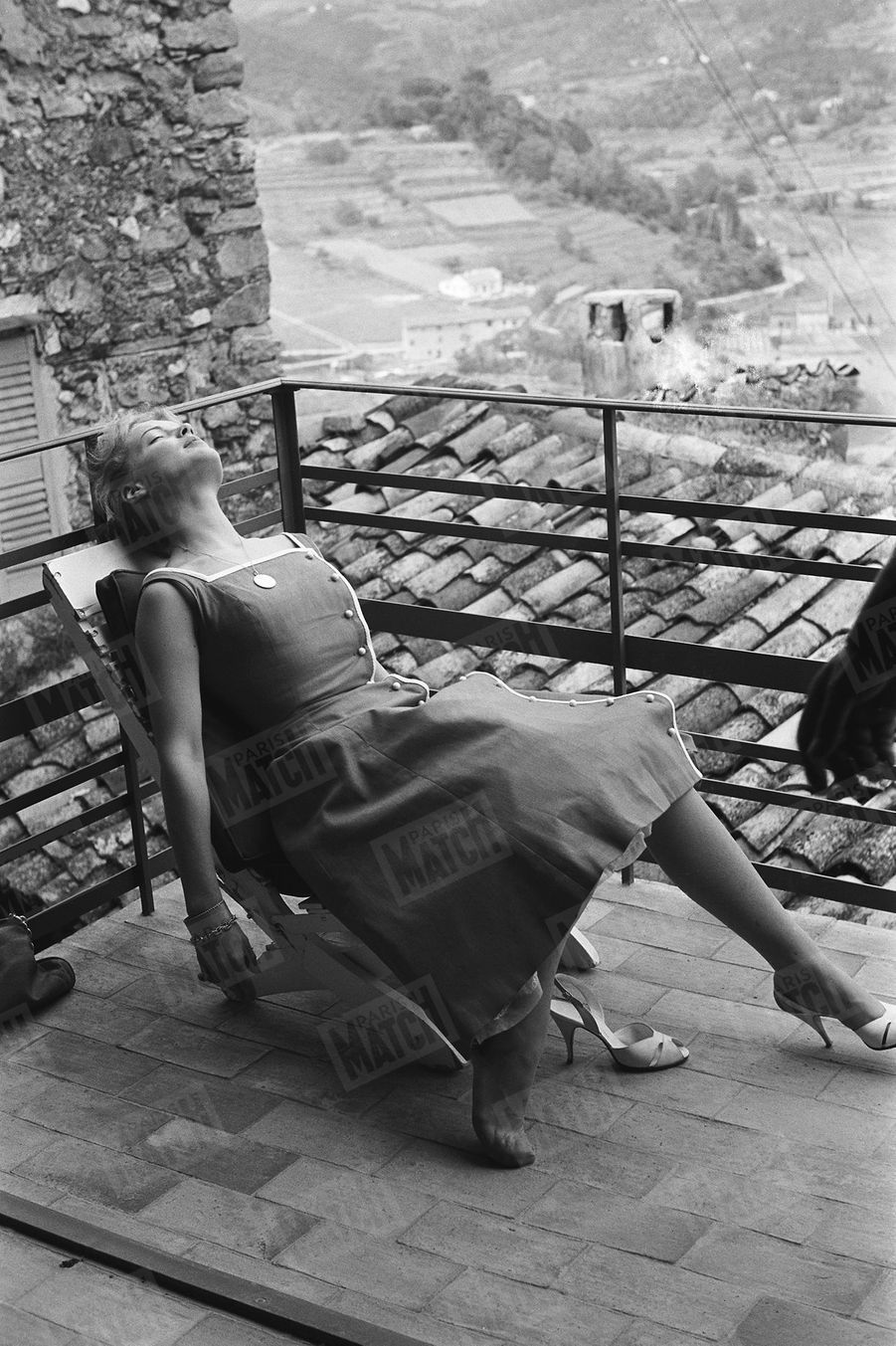 Romy Schneider au Festival de Cannes, en mai 1957.