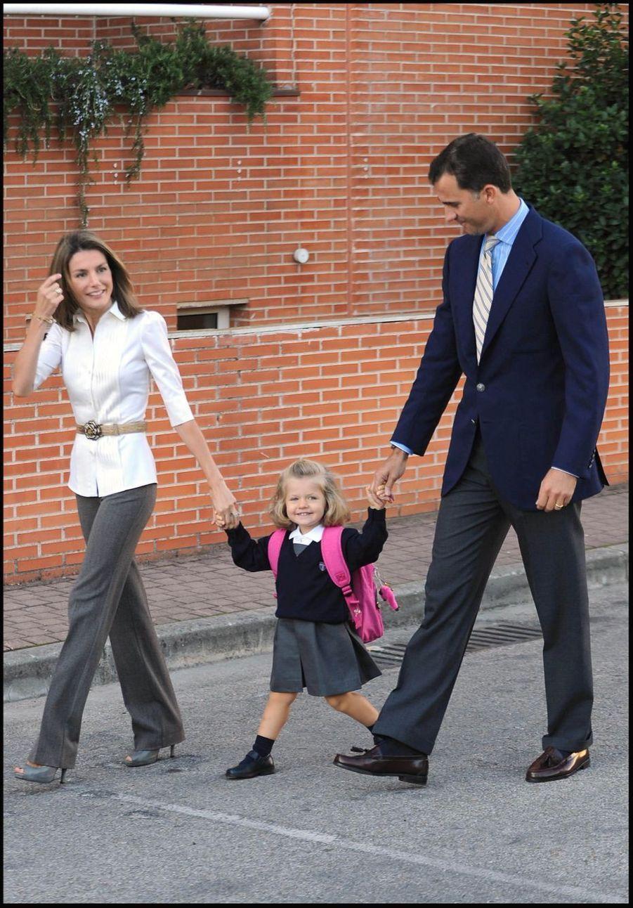 Premier jour d'école, le 15 septembre 2008