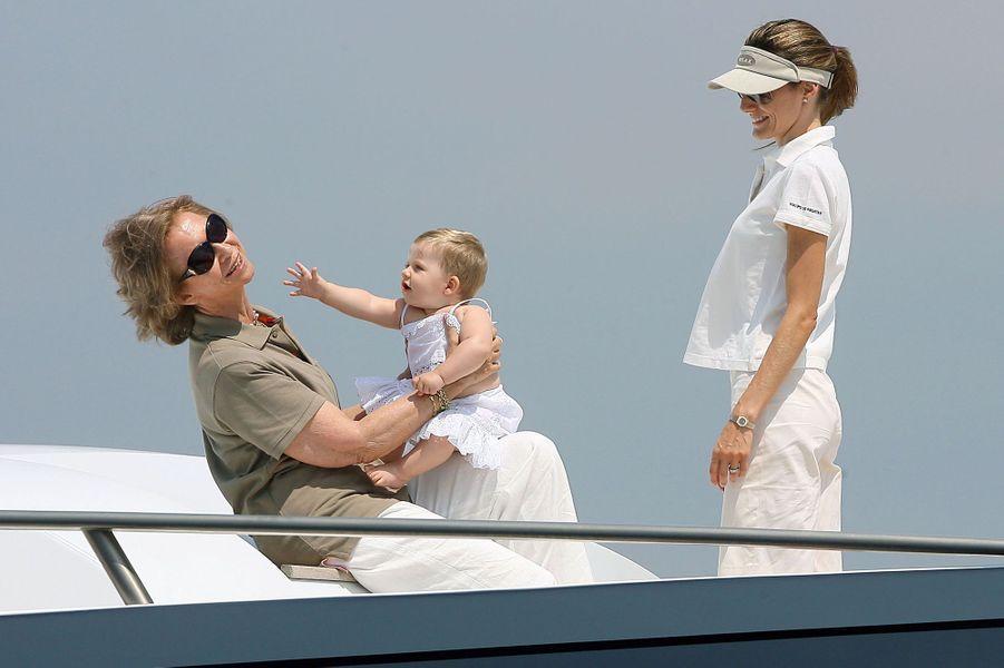 Vacances avec sa grand-mère, en août 2006