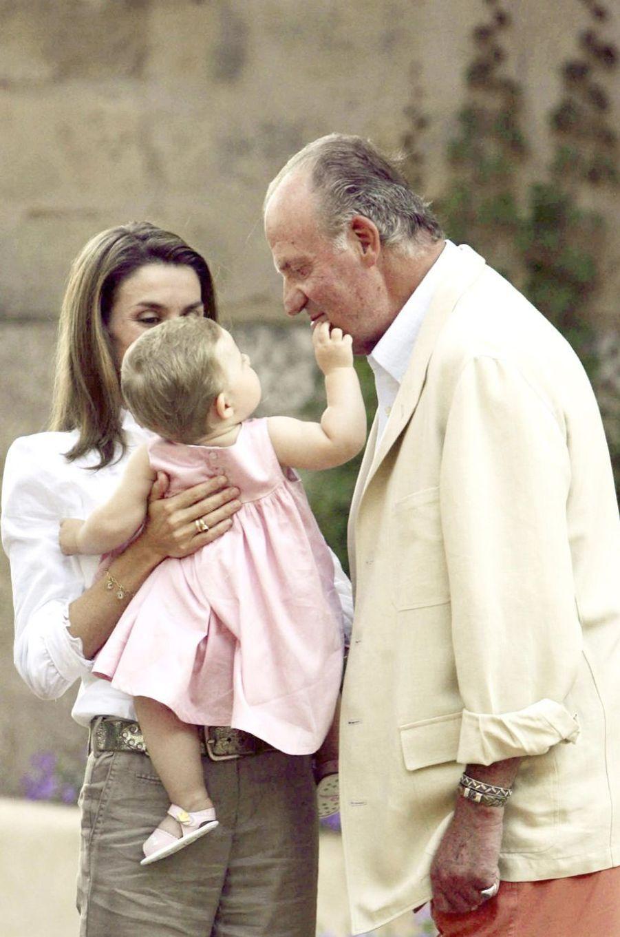 Vacances avec son grand-père, en août 2006