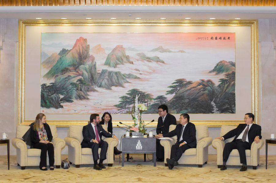 avec le maire de Shanghai