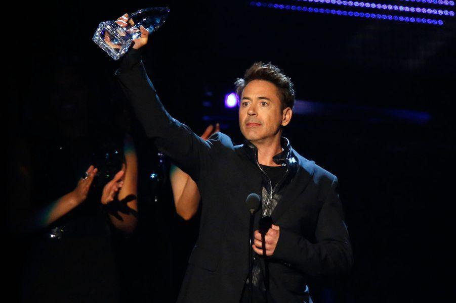 """Robert Downey Jr, meilleur acteur dans un film d'action pour """"Iron Man 3"""""""