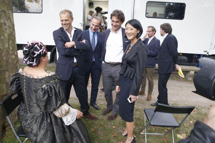 """Fleur Pellerin s'est rendue sur le tournage de la série """"Versailles"""""""