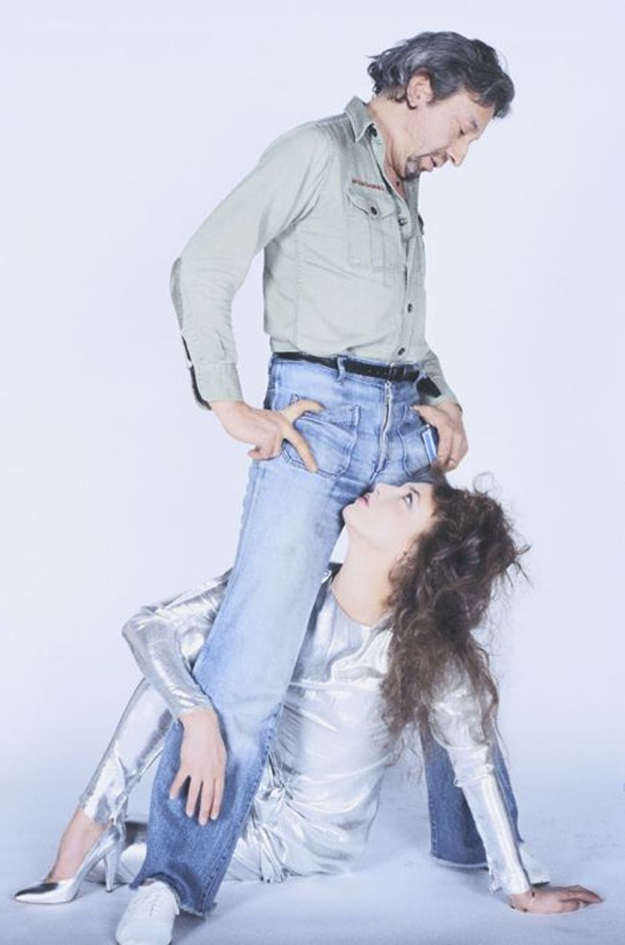 Photo en studio de Serge Gainsbourg et Jane Birkin, Mars 1979