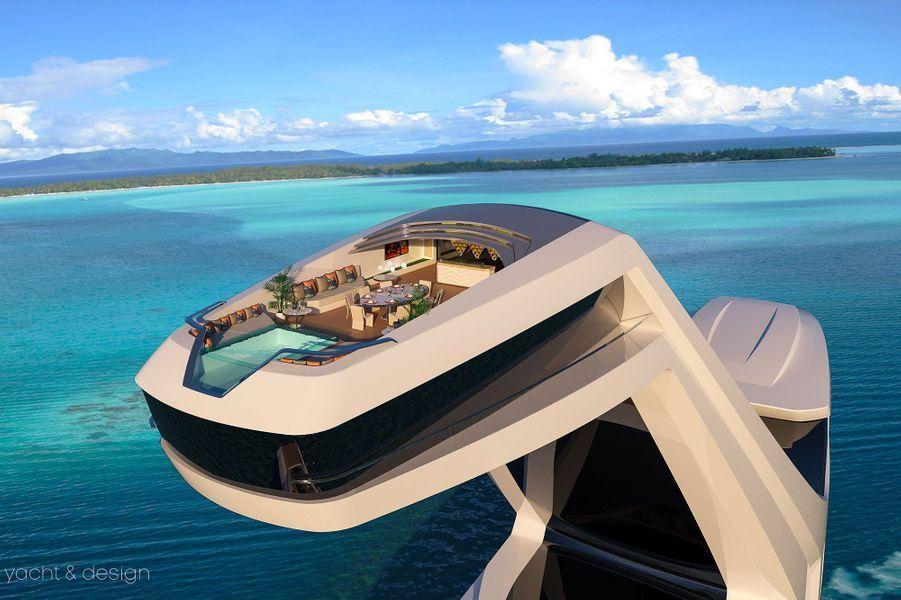 La terrasse située à 38 mètres de hauteur fait 105 mètres carrés