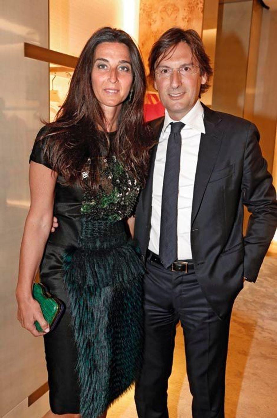 Elisabetta et Pietro Beccari, président de Fendi