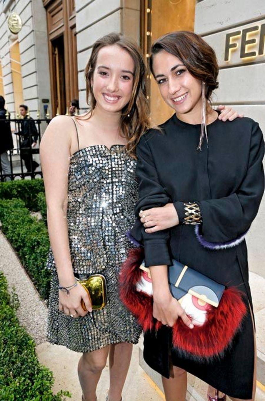 Leonetta Fendi et sa sœur Delfina Delettrez Fendi