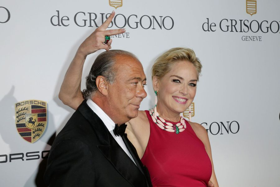 Fawaz Gruosi et Sharon Stone