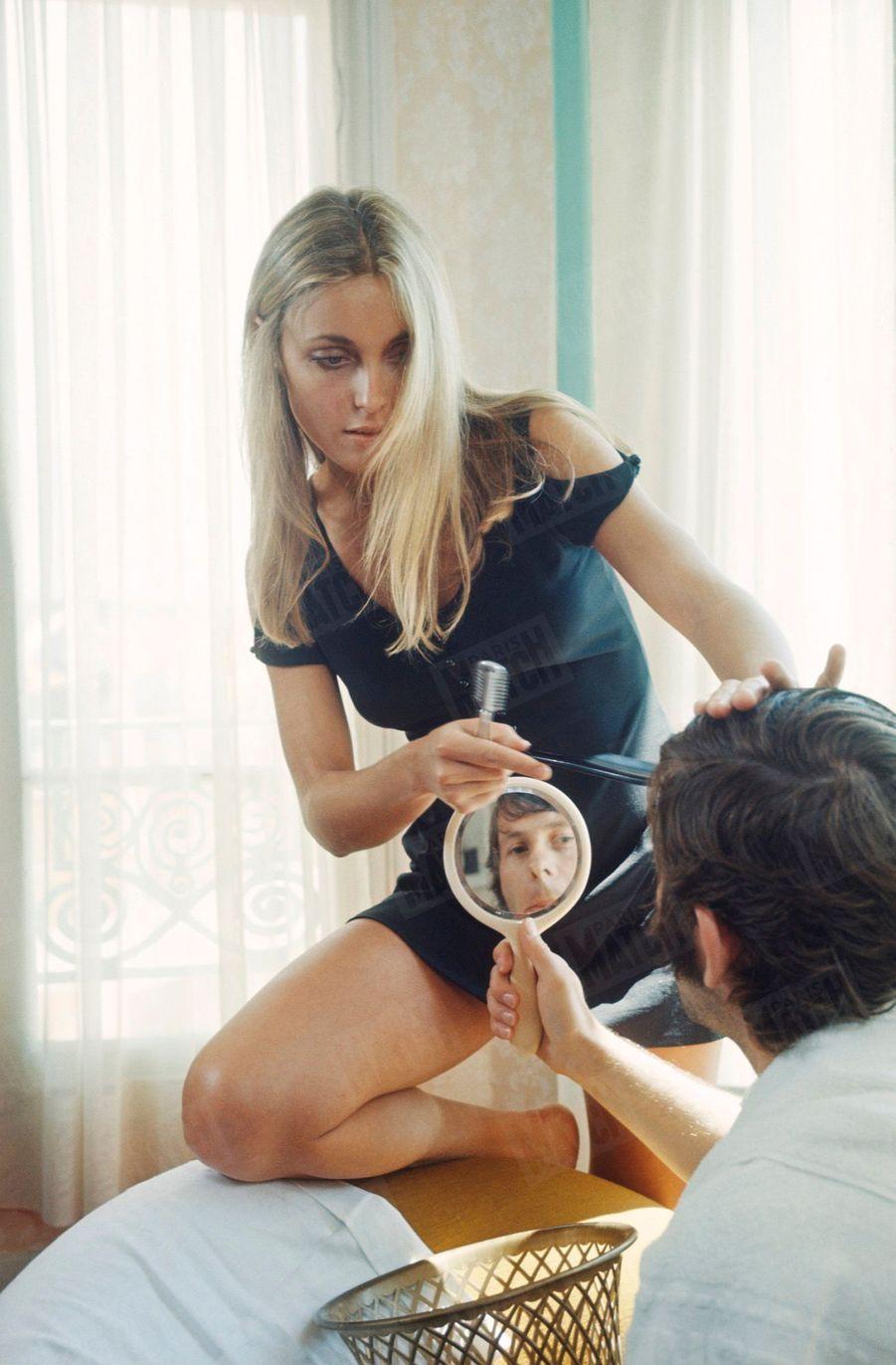 Sharon Tate et Roman Polanski, au 21ème Festival de Cannes en mai 1968.