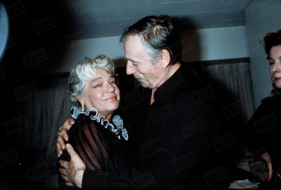 Simone Signoret et Yves Montand, à New York en mai 1982.