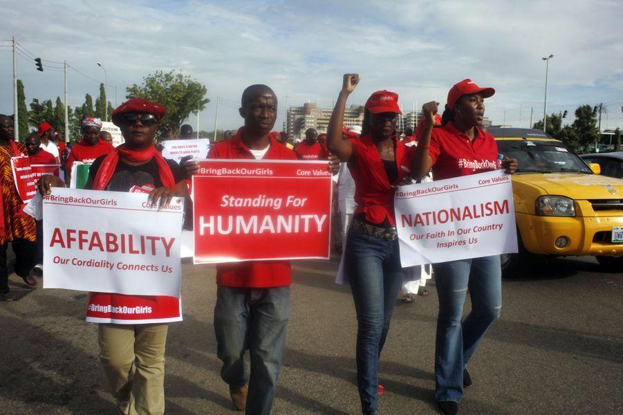 Mobilisation à Abuja, le 22 août