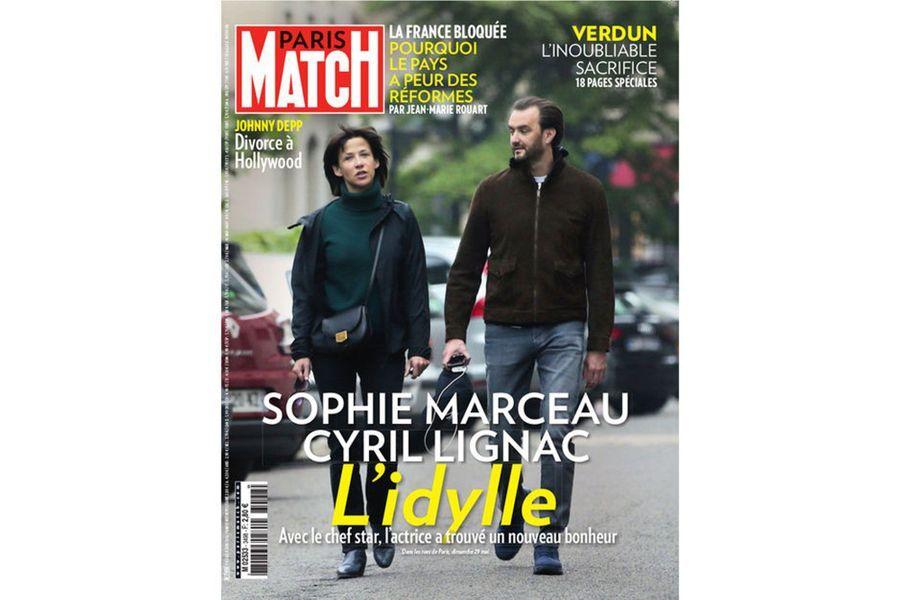 Sophie Marceau et Cyril Lignac en 2016