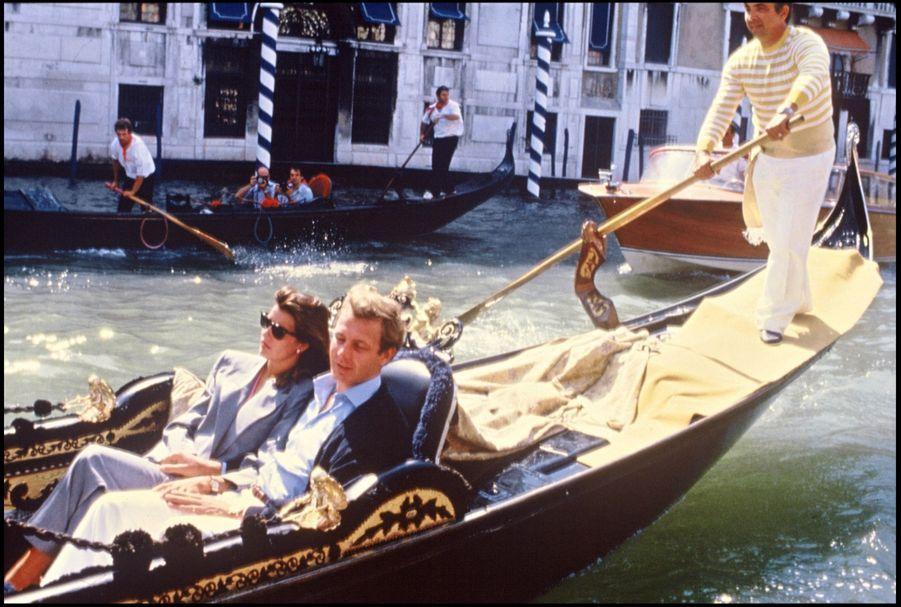 Caroline de Monaco et Stefano Casiraghi à Venise, 6 septembre 1985.