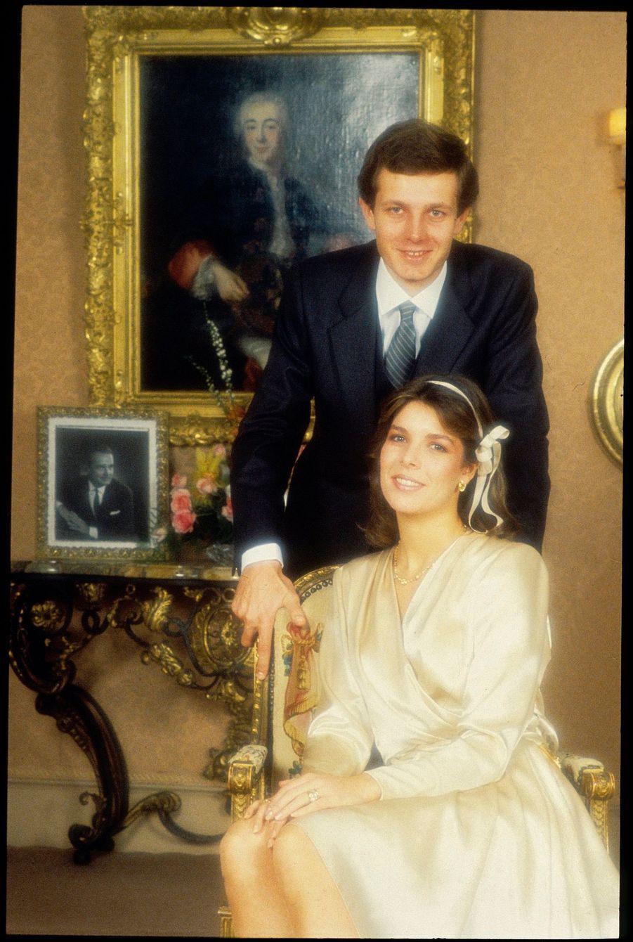 Le mariage de Caroline de Monaco et Stefano Casiraghi, le 29 décembre 1983.