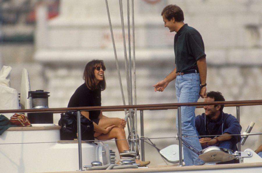 Caroline de Monaco et Stefano Casiraghi, le 29 septembre 1990. Quatre jours avant le drame.