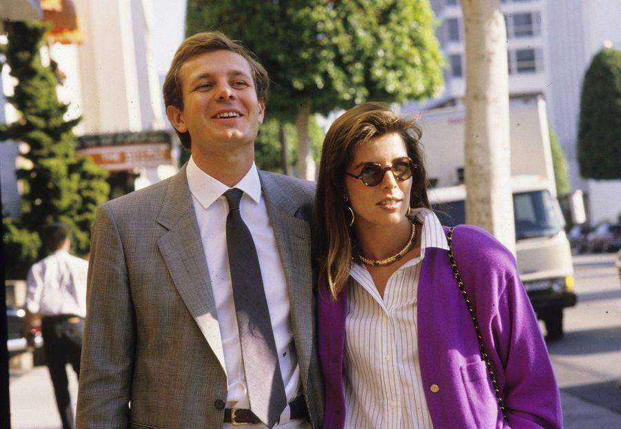 Caroline de Monaco et Stefano Casiraghi en 1987.