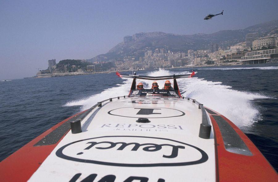 Stefano Casiraghi, au large de Monaco, le 21 mai 1989.