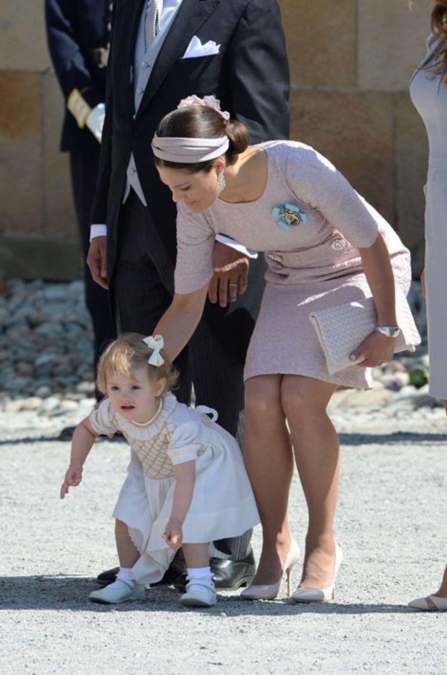 La princesse Victoria et sa fille Estelle