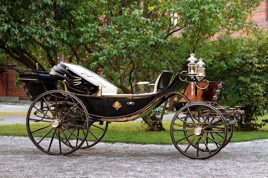 Le carrosse dans lequel les jeunes mariés se promèneront dans le centre de Stockholm.