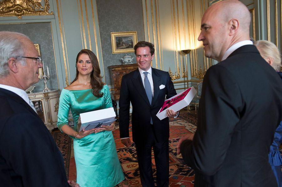 Avec le roi Carl VI Gustav et le Premier ministre Fredrik Reinfeldt après la lecture des bans