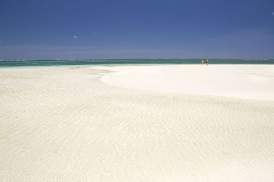 Sable blanc de l'île Maurice