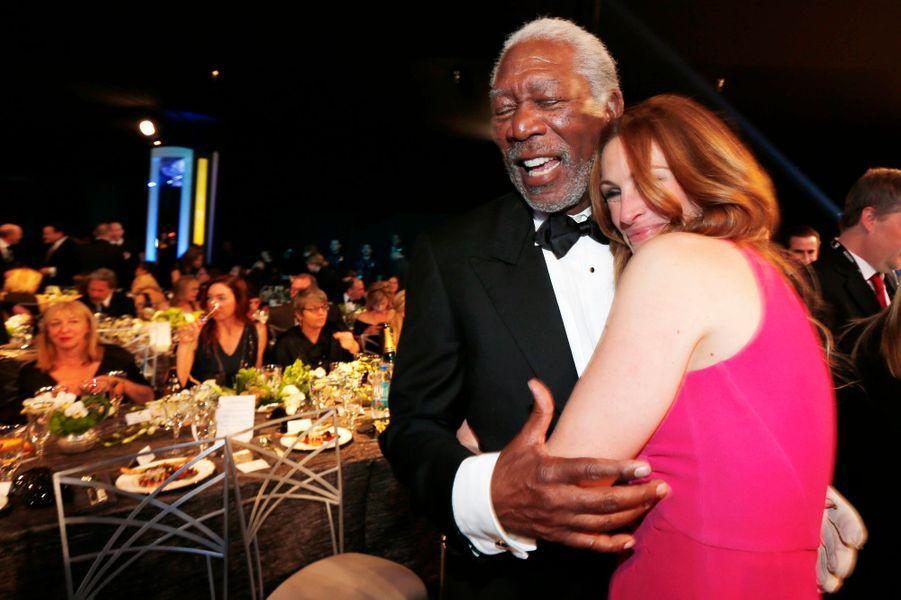 Morgan Freeman et Julia Roberts