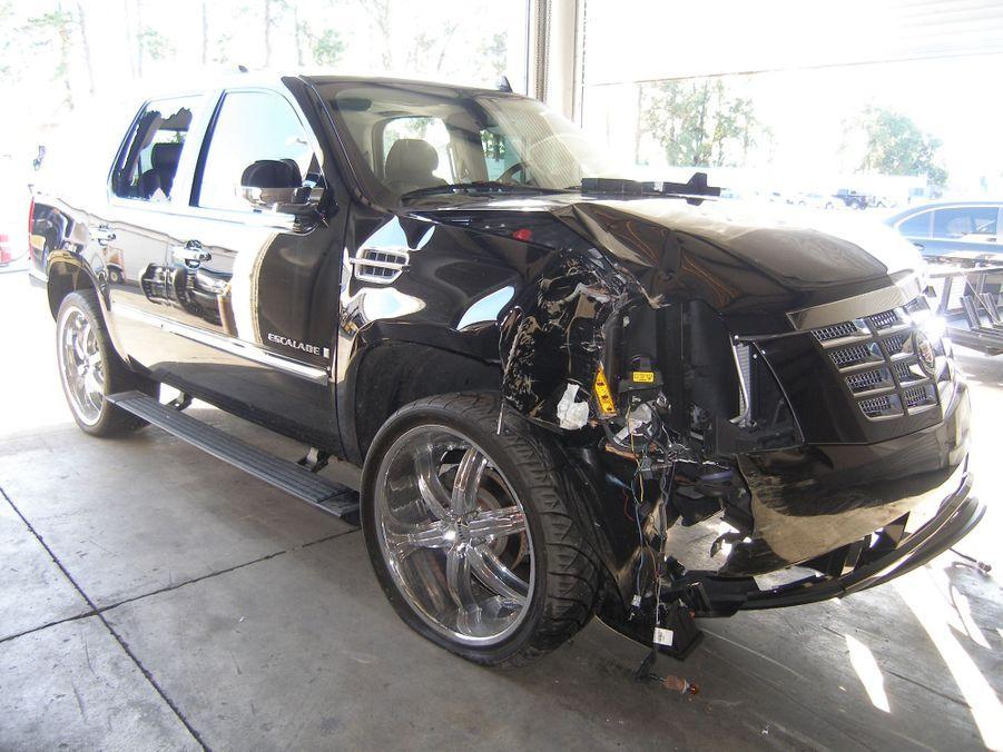 La voiture accidentée de Tiger Woods, le 2 décembre 2009.
