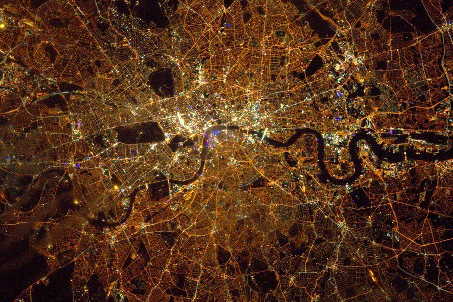 La ville de Londres vue de l'ISS