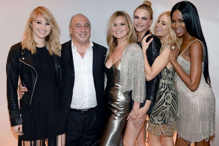 Suki Waterhouse, Philip Green, Kate Moss, Cara Delevingne, Sienna Miller et Naomi Campbell