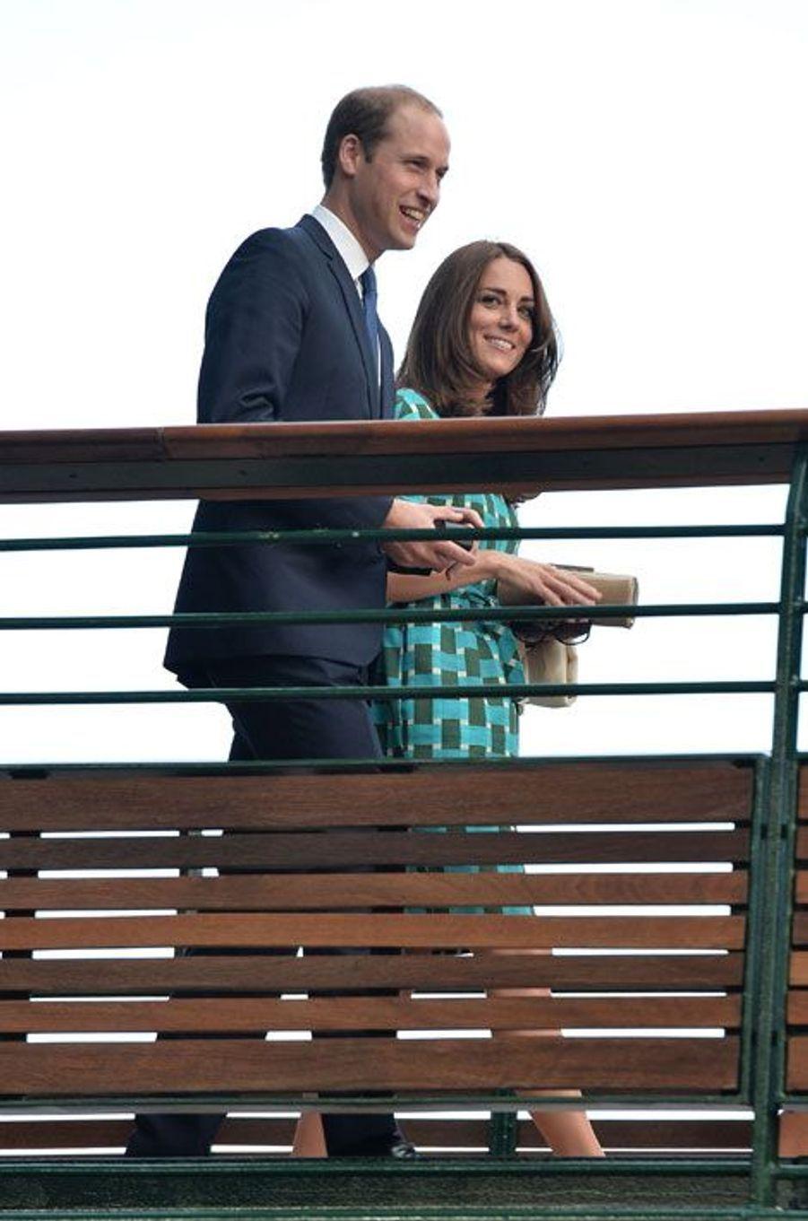Fini le cyclisme pour le couple princier, place à Wimbledon, dimanche, pour la finale homme opposant Novak Djokovic à Roger Federer.