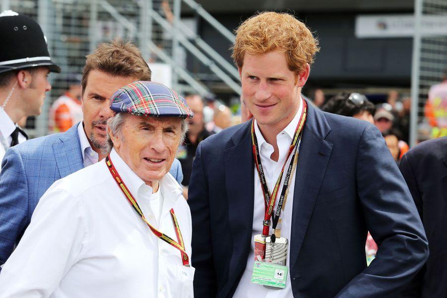 Discussion avec l'ancien pilote de Formule 1, Sir Jackie Stewart.