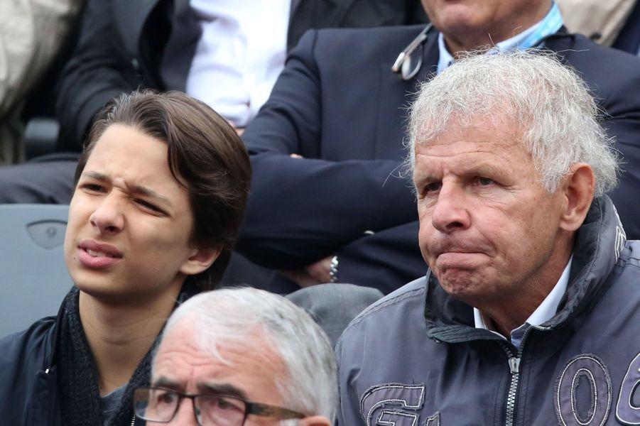 PPDA et son petit-fils Jérémy à Roland-Garros