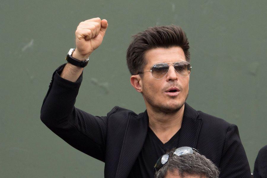 Le chanteur Vincent Niclo à Roland-Garros 2016