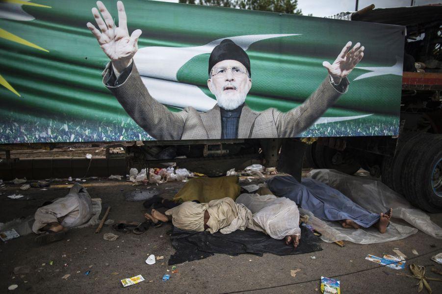 En marge des manifestations à Islamabad le 2 septembre
