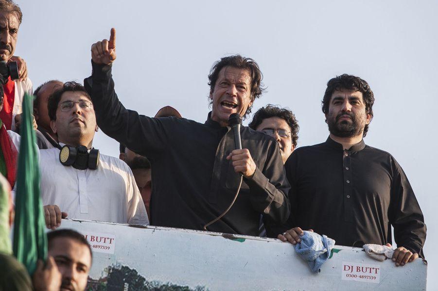 Imran Khan à Islamabad le 31 août