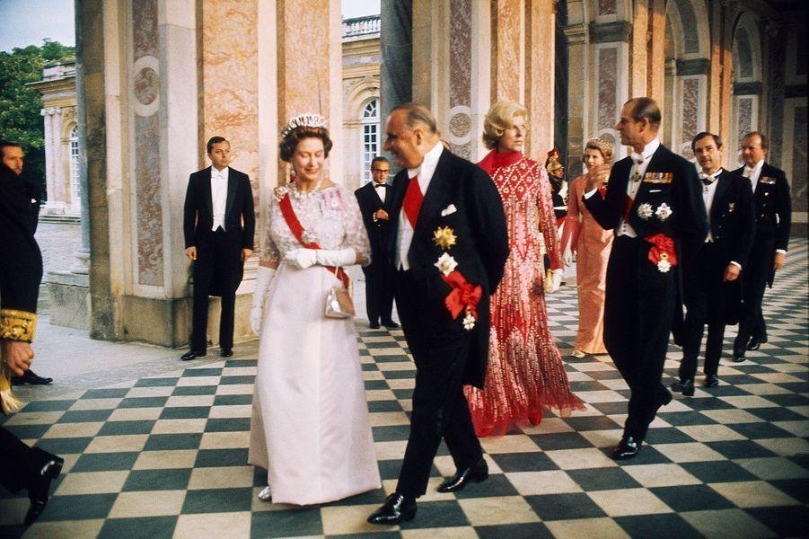 Elizabeth II et Georges Pompidou