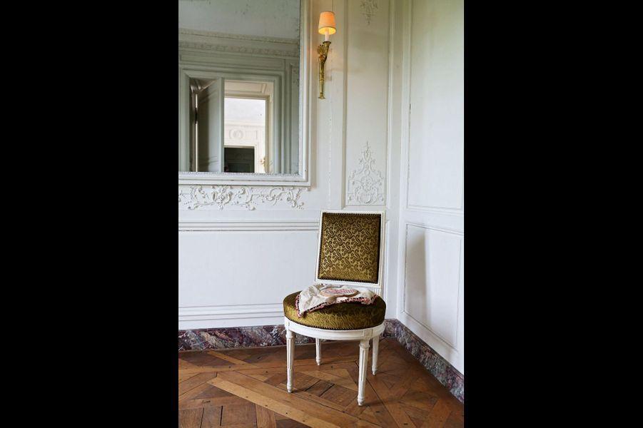 La chaise de la petite pièce où Yvonne brodait