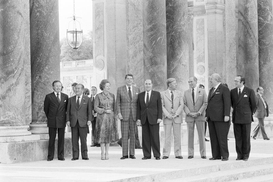 Sommet du G7 à Versailles en juin 1982