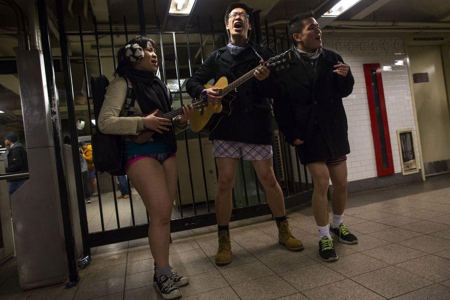 Un dimanche en slip dans le métro