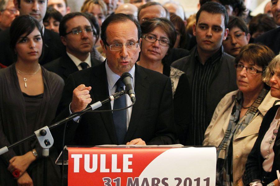 31 mars 2011 : François Hollande se lance dans la course