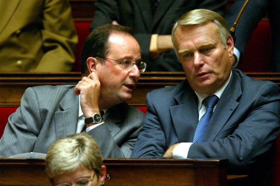 A l'Assemblée nationale avec son compère Jean-Marc Ayrault, en 2003