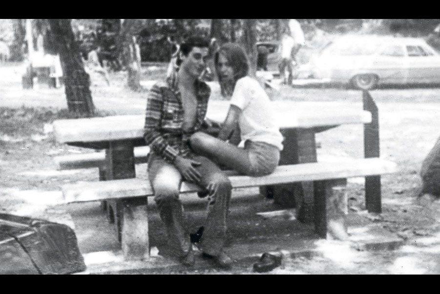 En Californie, en 1974, avec une amie